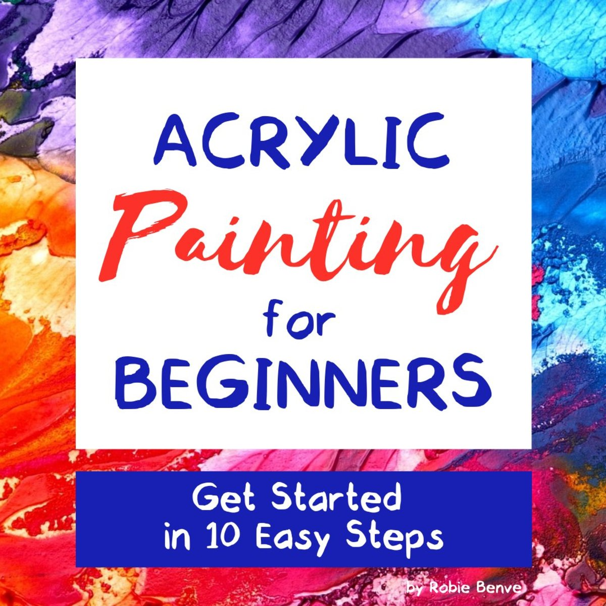 Acrylic painting for beginners: all you need to get started. Great info about art supplies and materials needed to start painting with acrylics for beginners.  Tips on the best paint, brushes, canvas, and easel to buy.