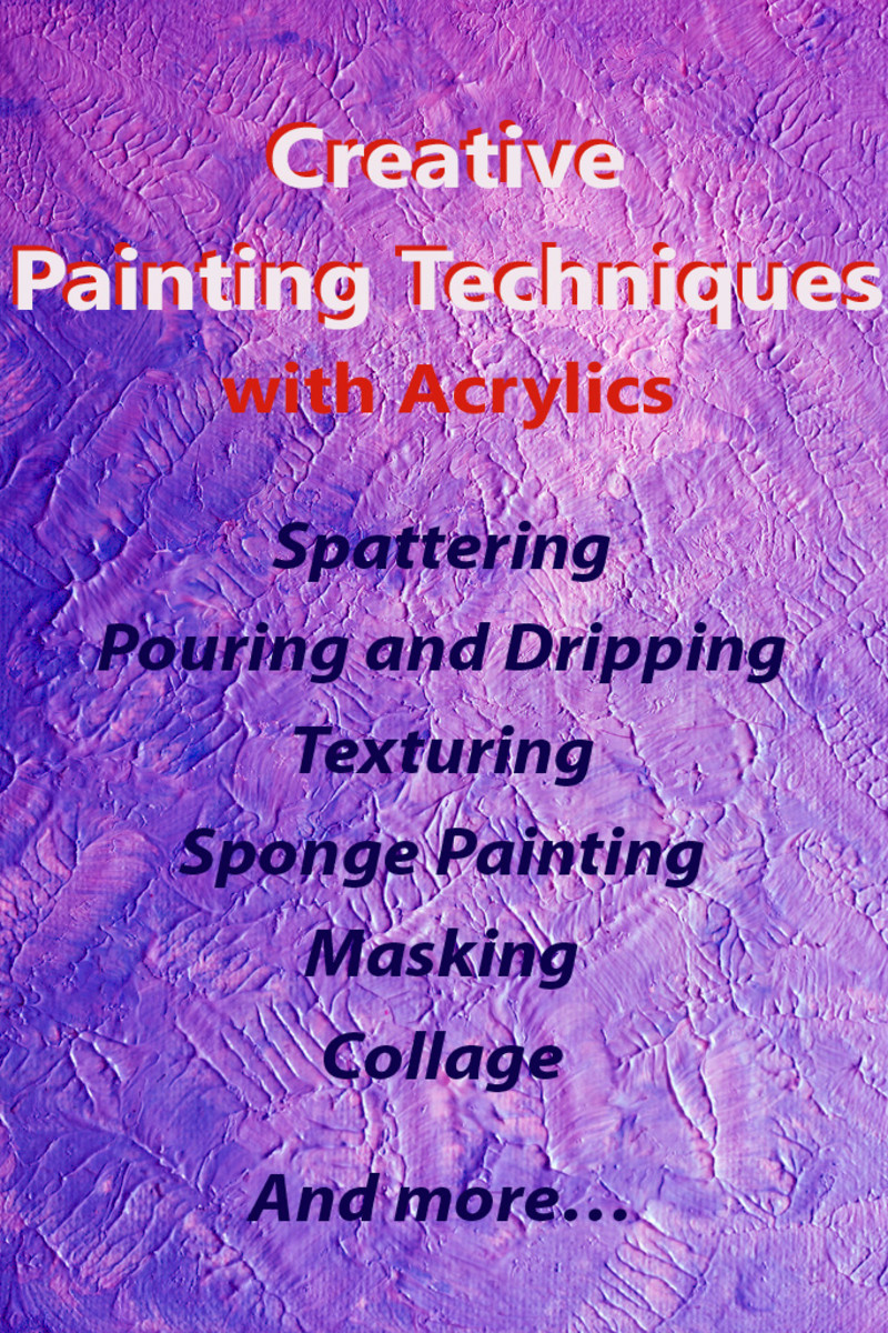 How to Paint with Acrylics Creative Painting Techniques FeltMagnet