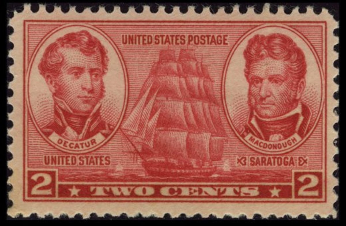 1937 Two-Cent Navy Stamp: Stephen Decatur and Thomas Macdonough