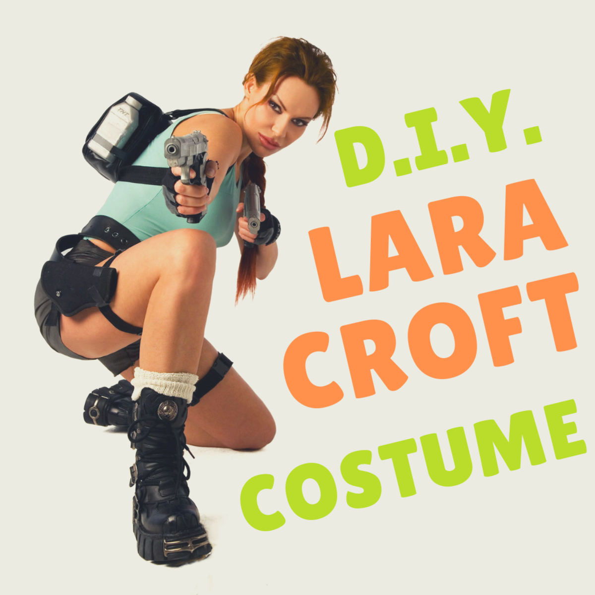 You can buy a Lara Croft costume online, but you can also create your own outfit.