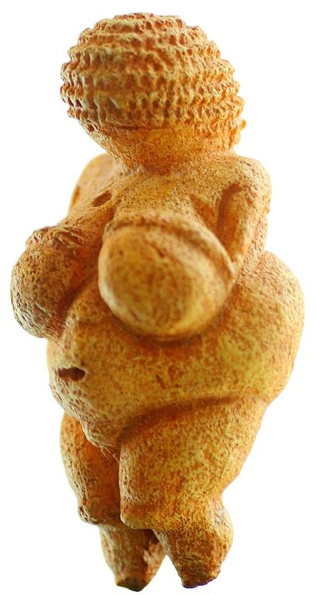 Venus von Willendorf, estimated to have been carved between 24,000 and 22,000 BCE, during the Upper Paleolithic.