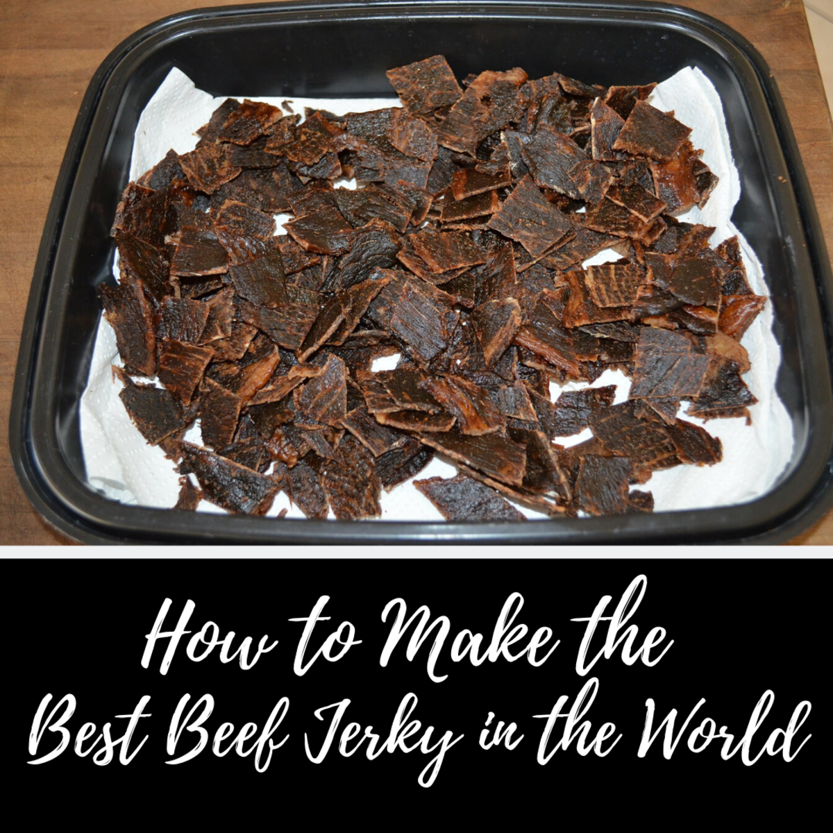 This beef jerky recipe is absolutely delicious.