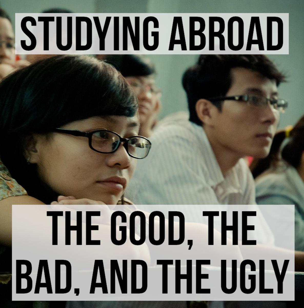 出国留学可以带来很多好处,它经常拓宽视野,加深学习经验。然而,有缺点也增加了教育成本,以及克服的语言和文化障碍。