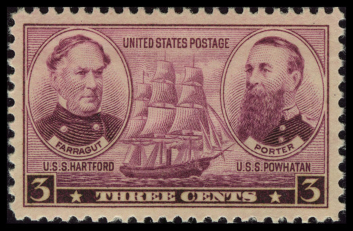The three-cent Navy stamp.