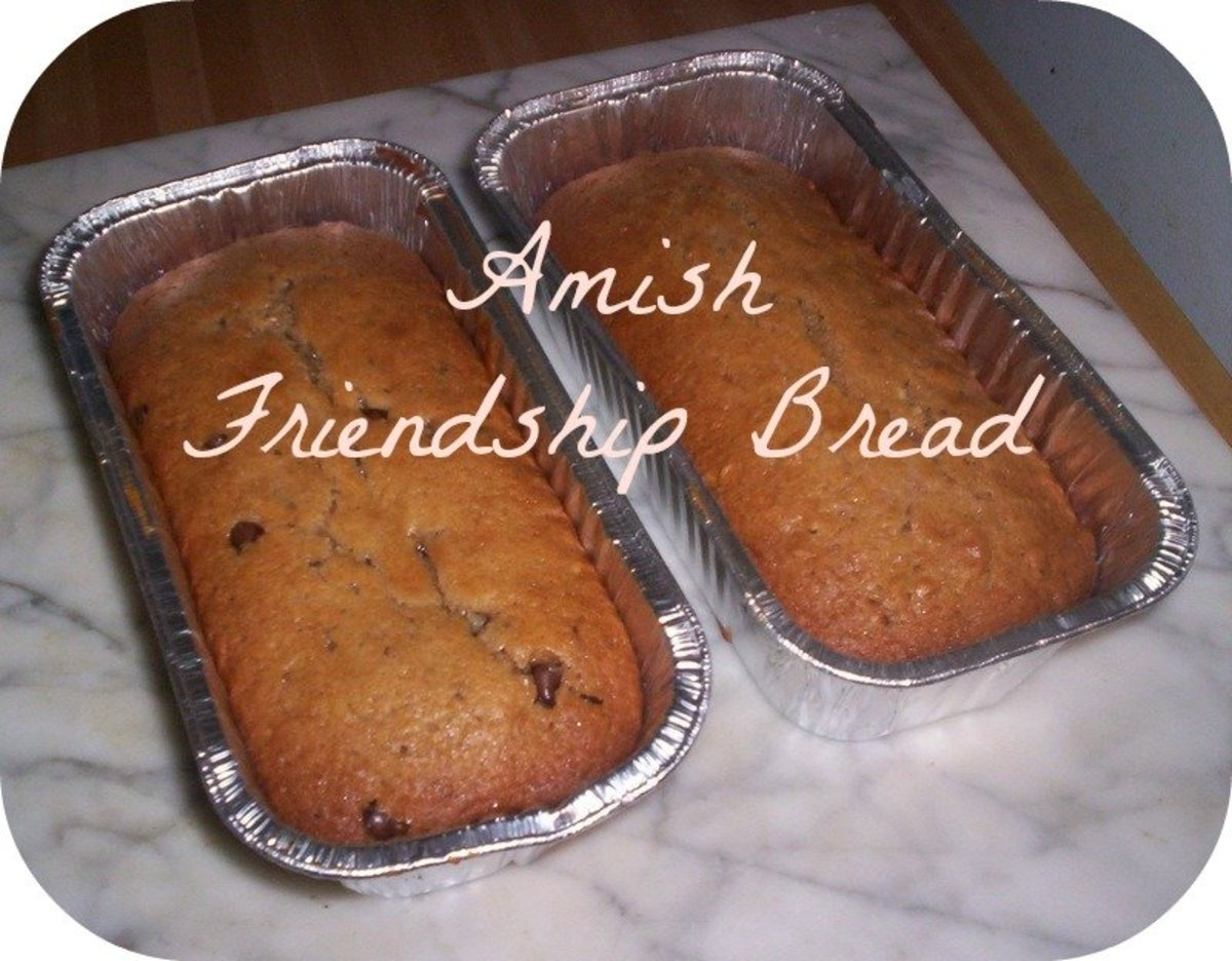 Two fresh loaves of Amish Friendship Bread.