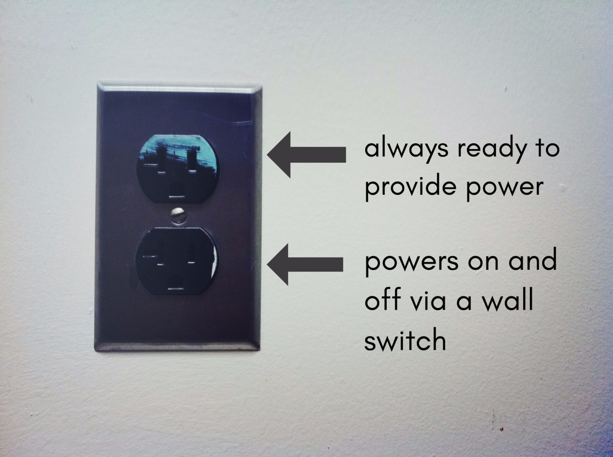An Electrician Explains How to Wire a Switched (Half-Hot ... on light switch from outlet diagram, wall outlet diagram, switched receptacle diagram, half switched receptacles, switch receptacle wiring diagram, single pole switch wiring diagram, switch loop wiring diagram, light fixture wiring diagram, half switched duplex outlet,