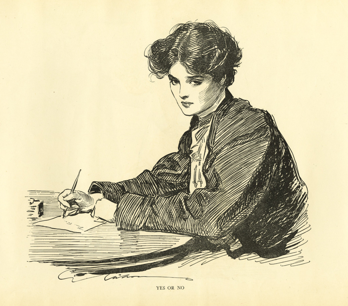The writer and her pen
