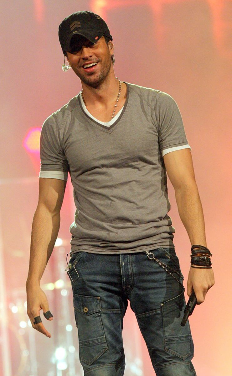 Enrique Iglesias. Just the right amount of gorgeousness and charisma to make a girl melt.