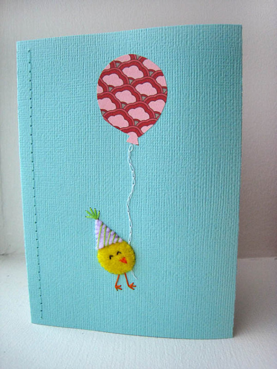 Homemade Handmade Greeting Card Making Ideas with Balloons – Handmade Birthday Card Design
