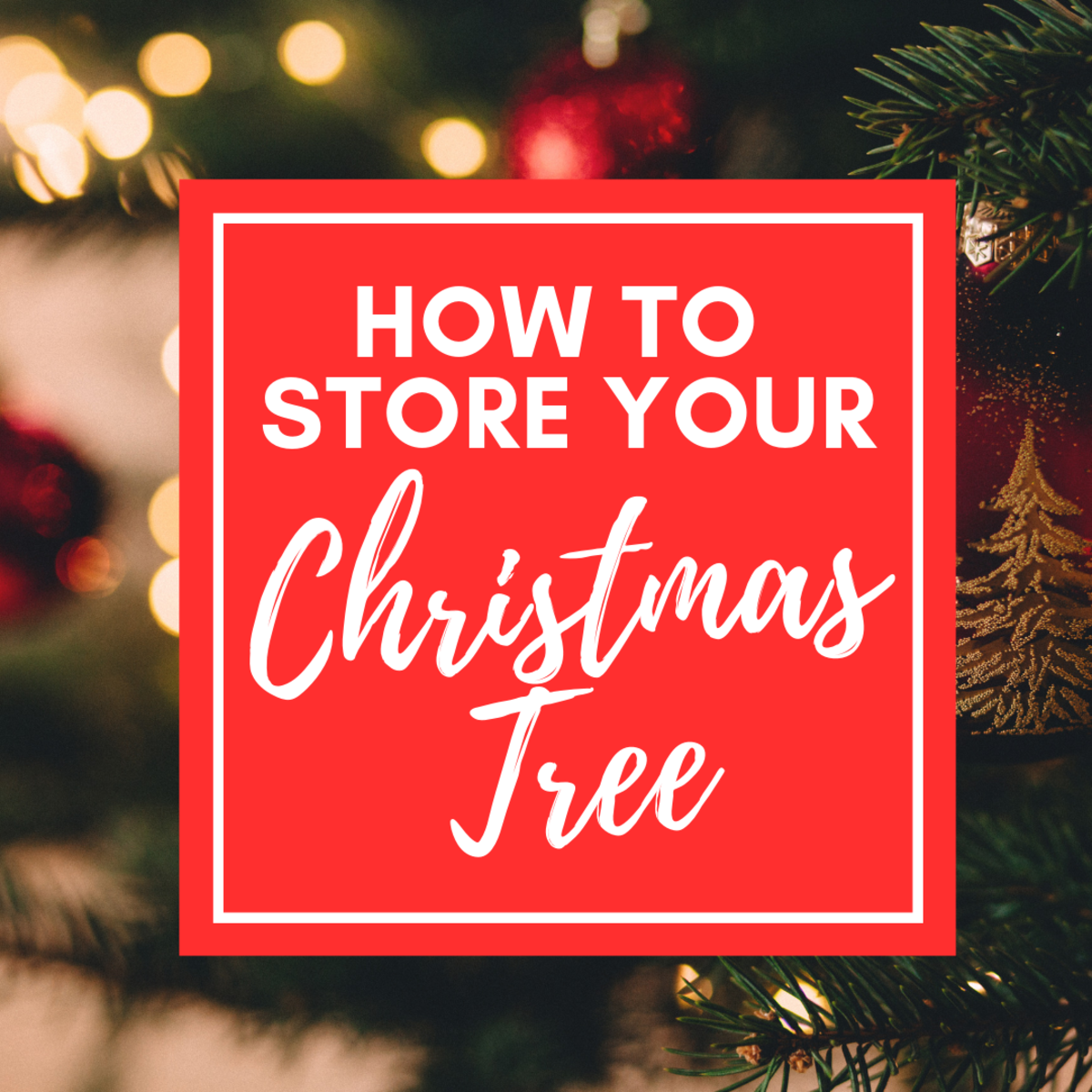 How to Store a Christmas Tree