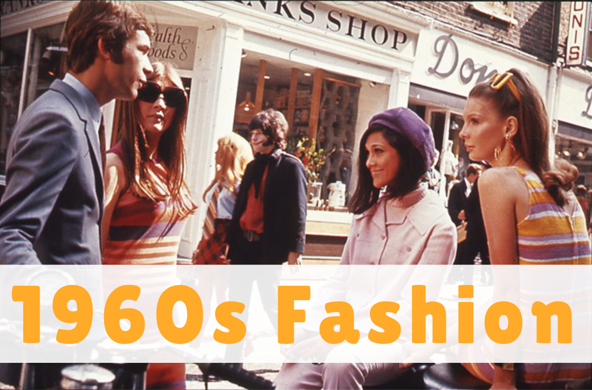 Examples of iconic 1960s fashion include the styles worn by young people in London's Carnaby Street.