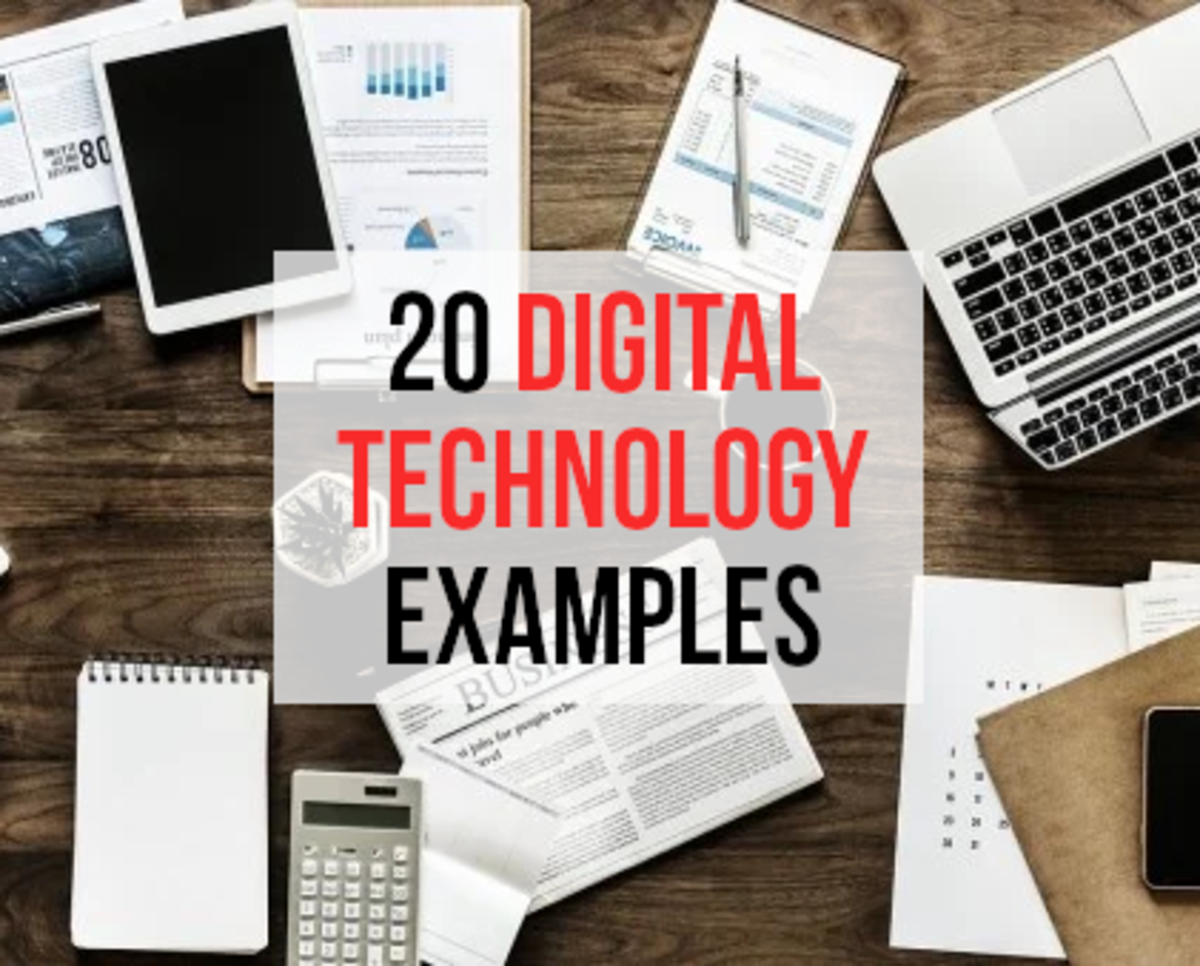 For my list of 20 examples of digital technology, please read on...