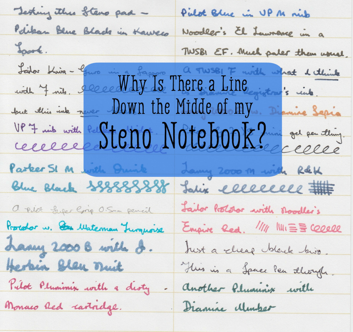 Why Is There a Line Down the Middle of a Steno Pad Book?