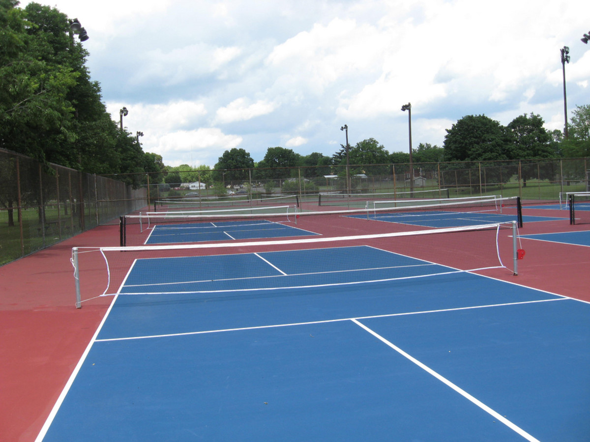 Pickleball courts await players