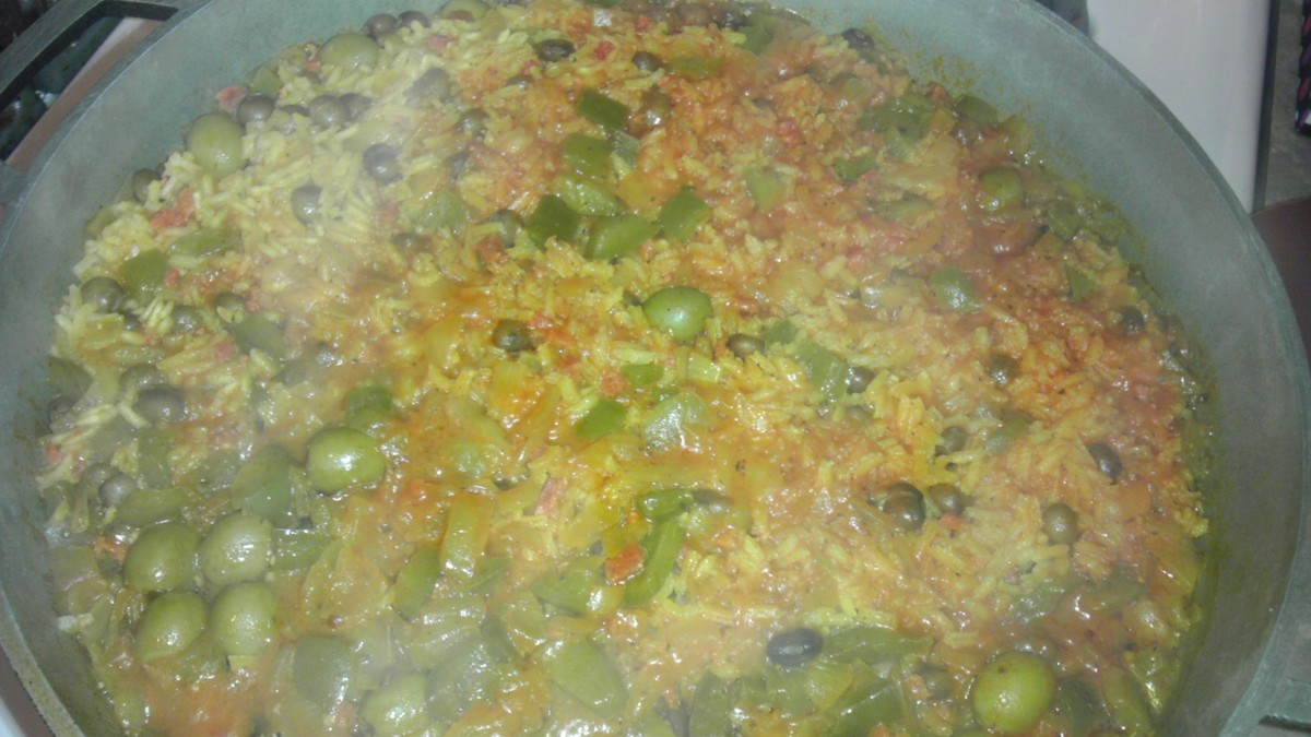 Arroz con gandules, ready to eat!