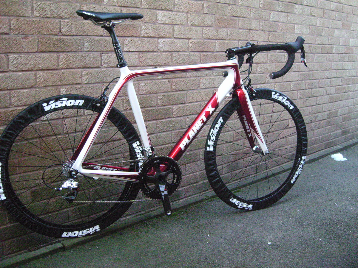 Planet X RT-57. Spec'd with Sram Red Groupset and Planet X finishing components