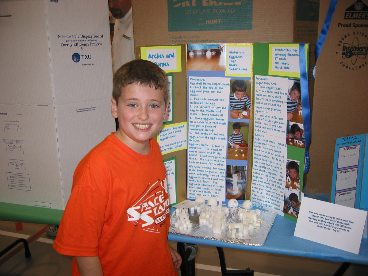 Science Fair Project on Arches and Domes: How Many Books Can Eggshells Hold?