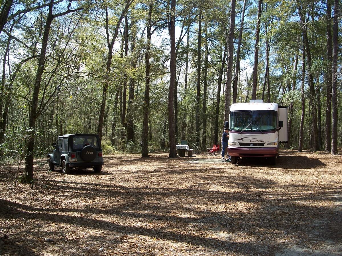 A beautiful and spacious campground - Honey Hill Campground. South Carolina
