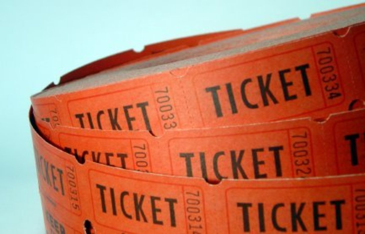 A roll of raffle tickets.