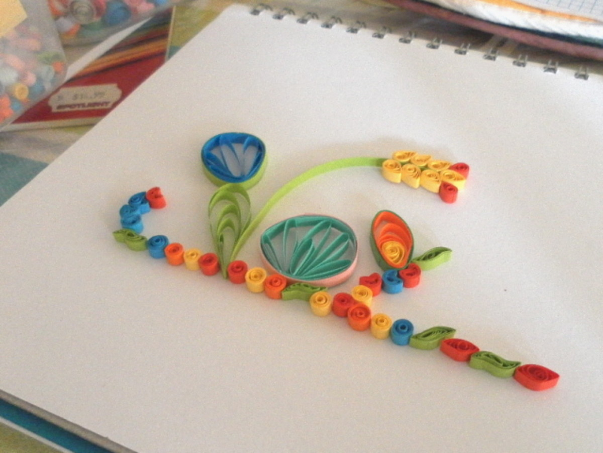Making Huskings for Flower Petals and Floral Designs in Paper Quilling