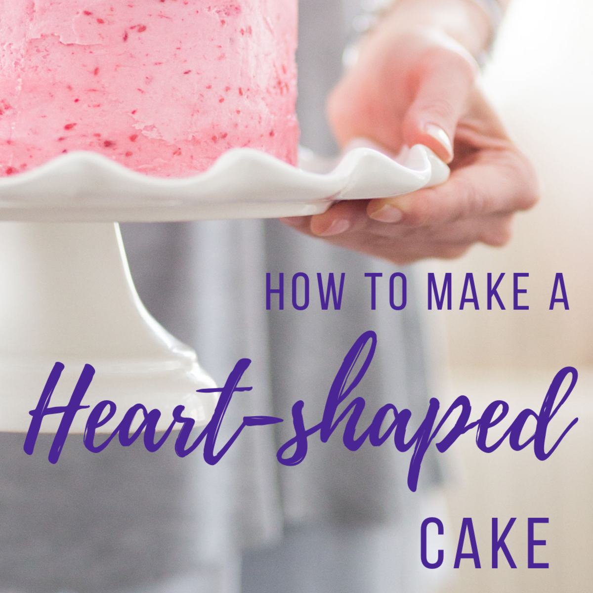 DIY Heart-Shaped Cake