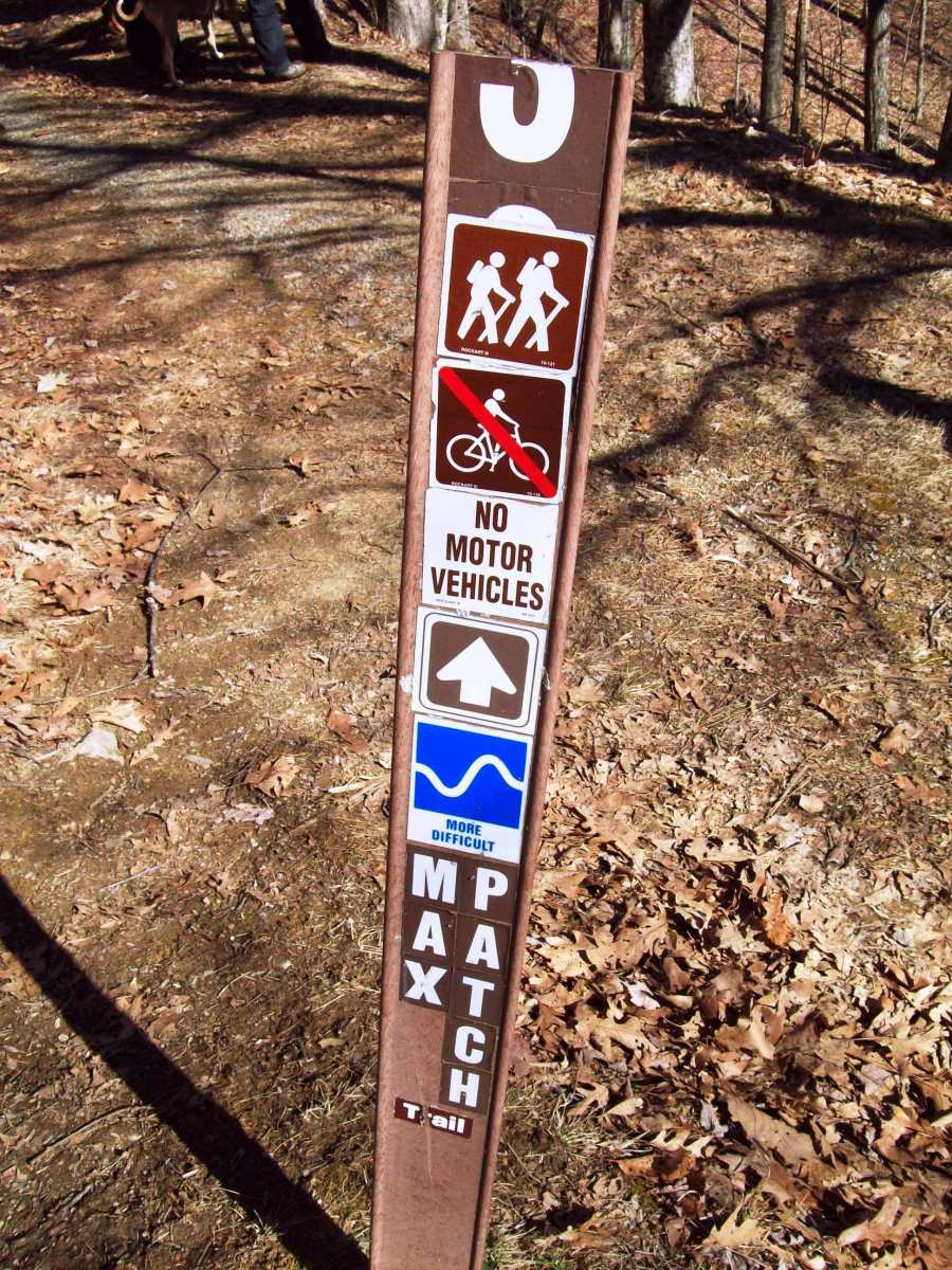 One of the Max Patch trailheads.  This particular marker was on one of the trails that skirt the mountain.