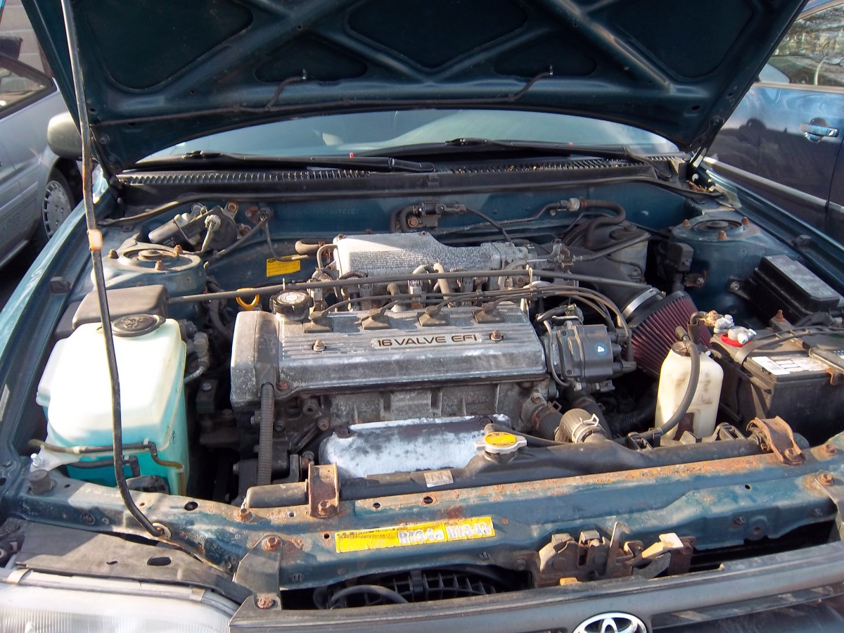 How to change the oil in a 1994 Toyota Corolla. Step by step with pictures.