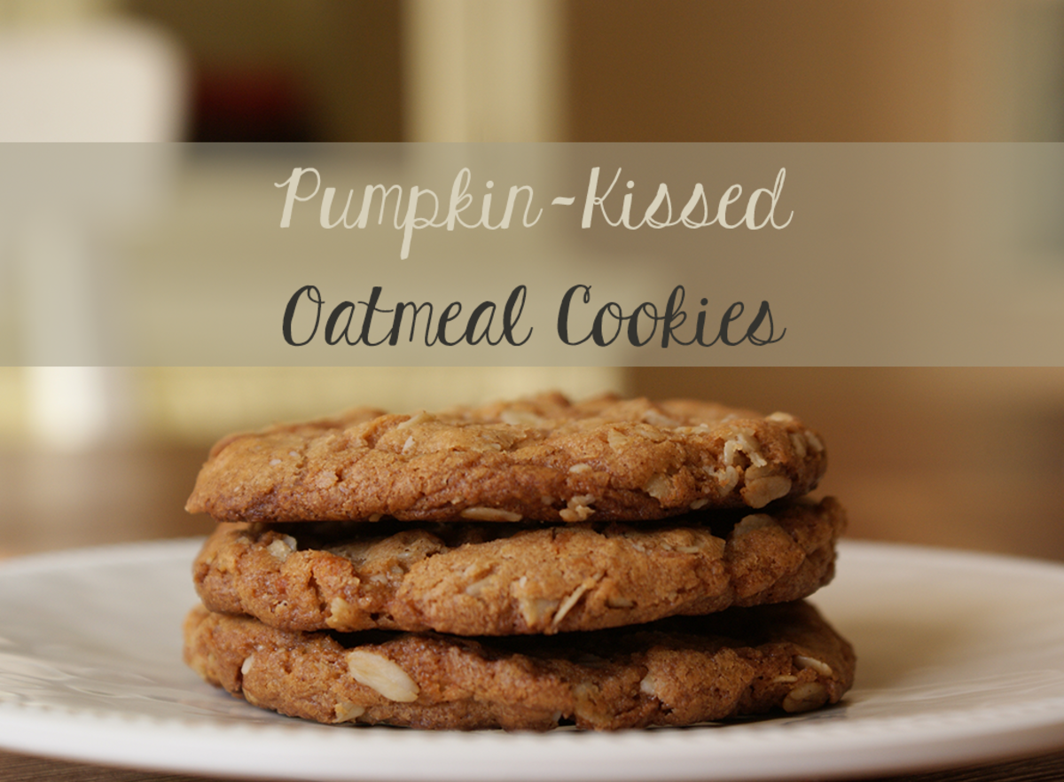 Pumpkin Kissed Oatmeal Cookies