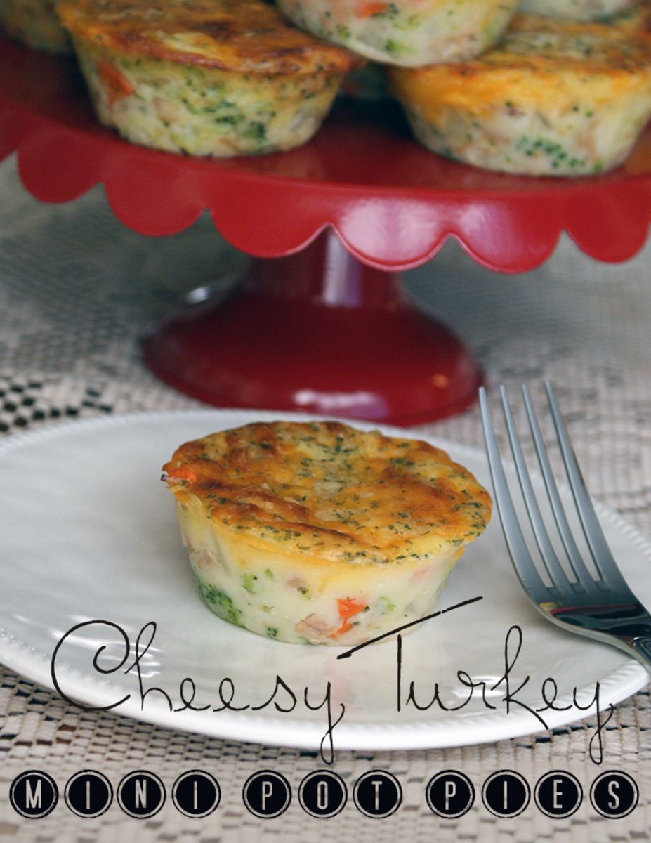 Cheesy Turkey Mini Pot Pies
