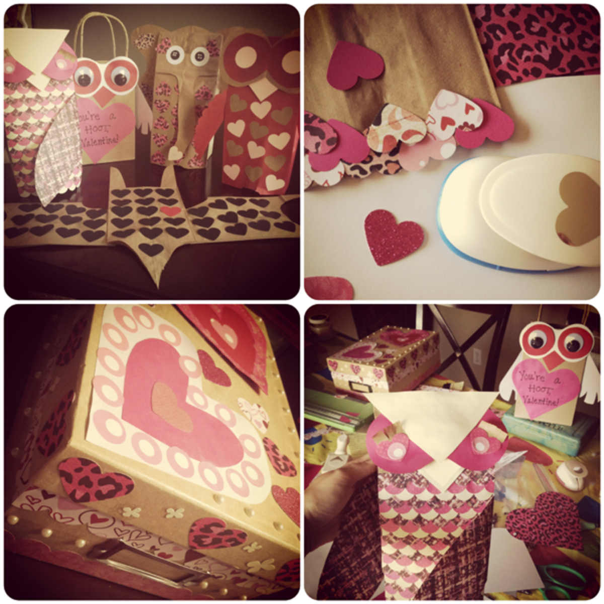 Paper puppets, bags, and boxes crafted with LOVE!