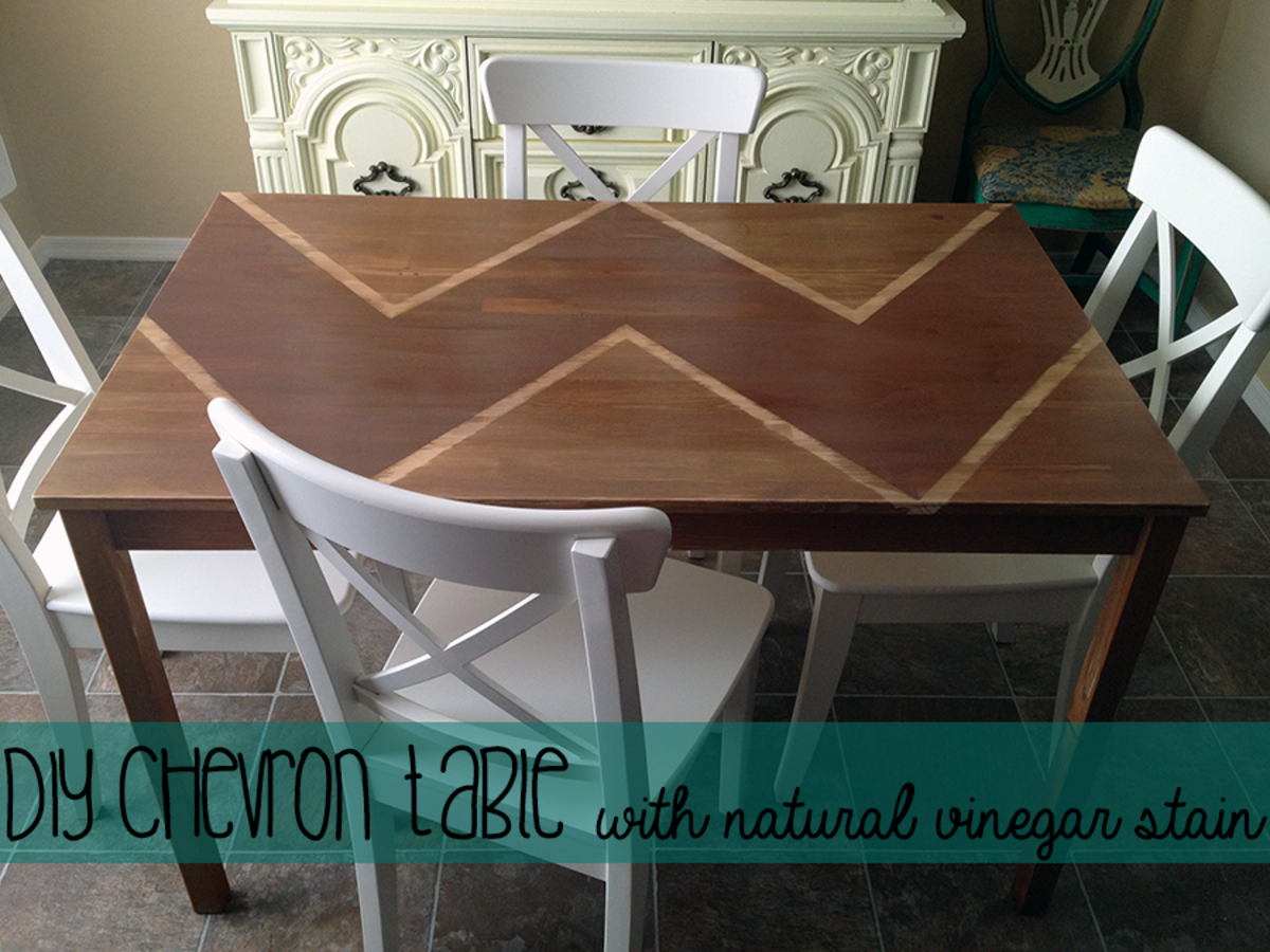 DIY Decorating: Staining Wood Furniture With Vinegar