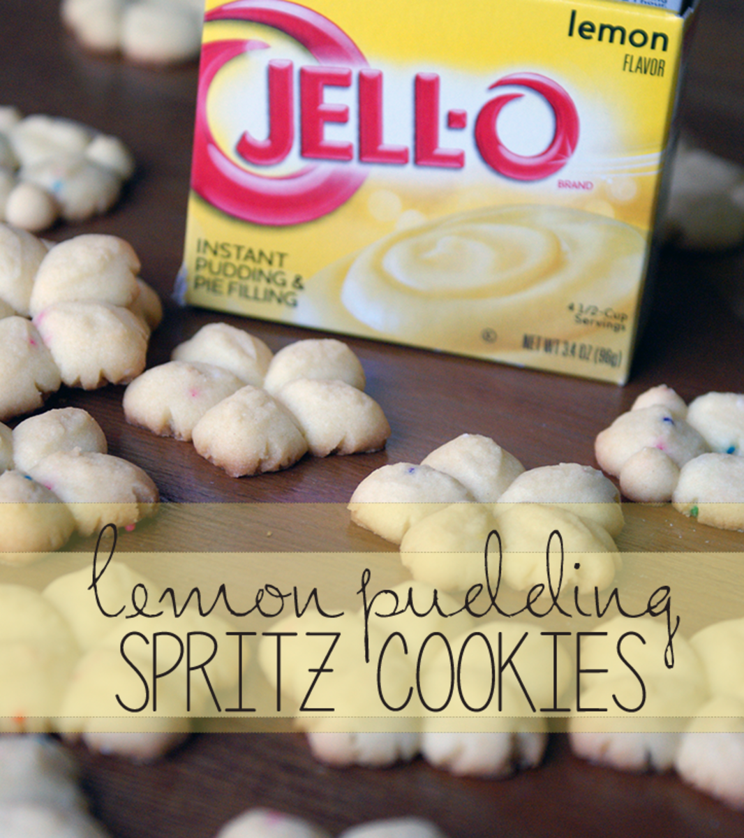 Lemon Pudding Spritz Cookies