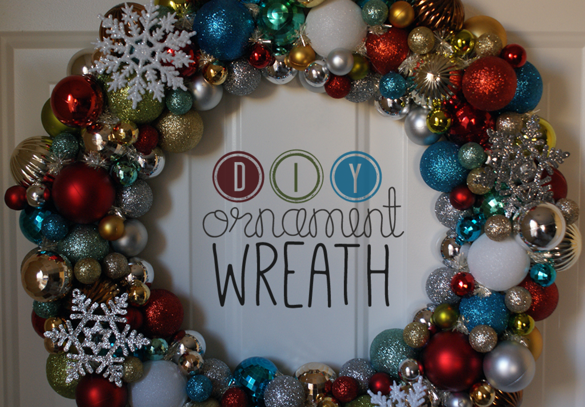 Front Door Wreath for Christmas - How to Make a Wreath with Christmas Balls