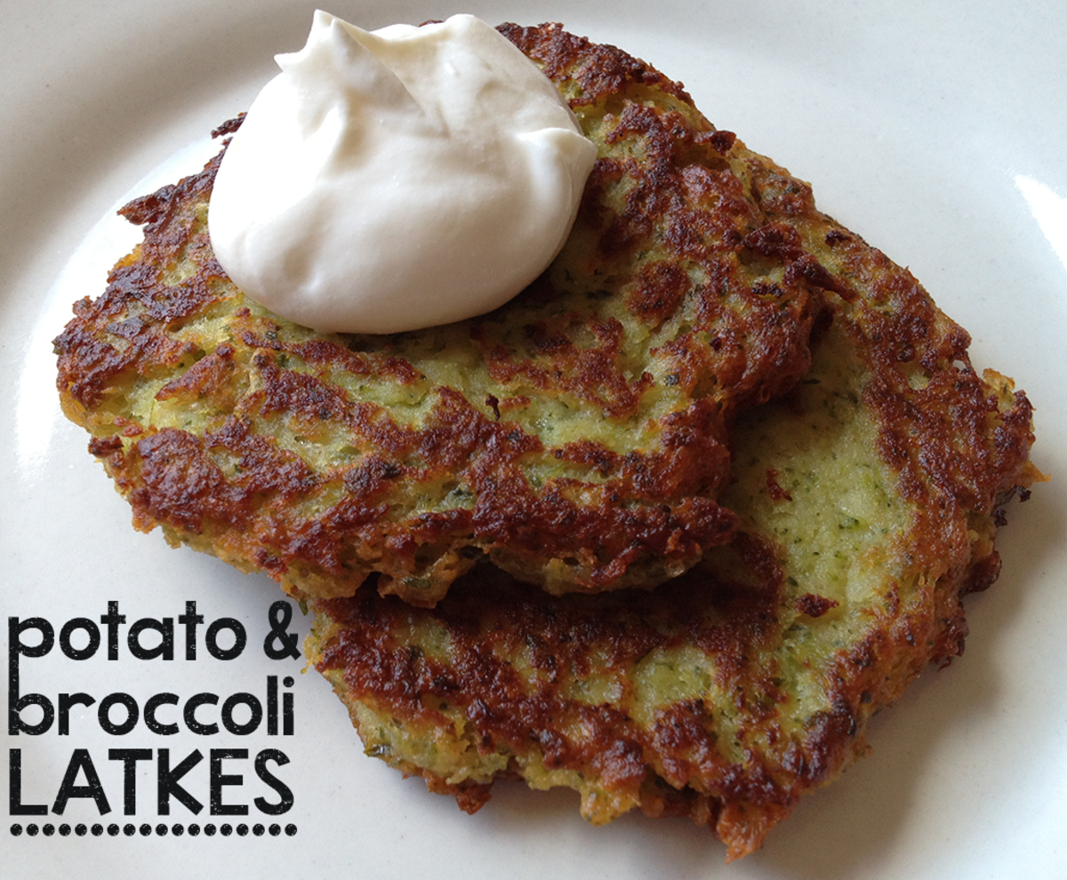 Broccoli adds an interesting and delicious twist to potato latkes.