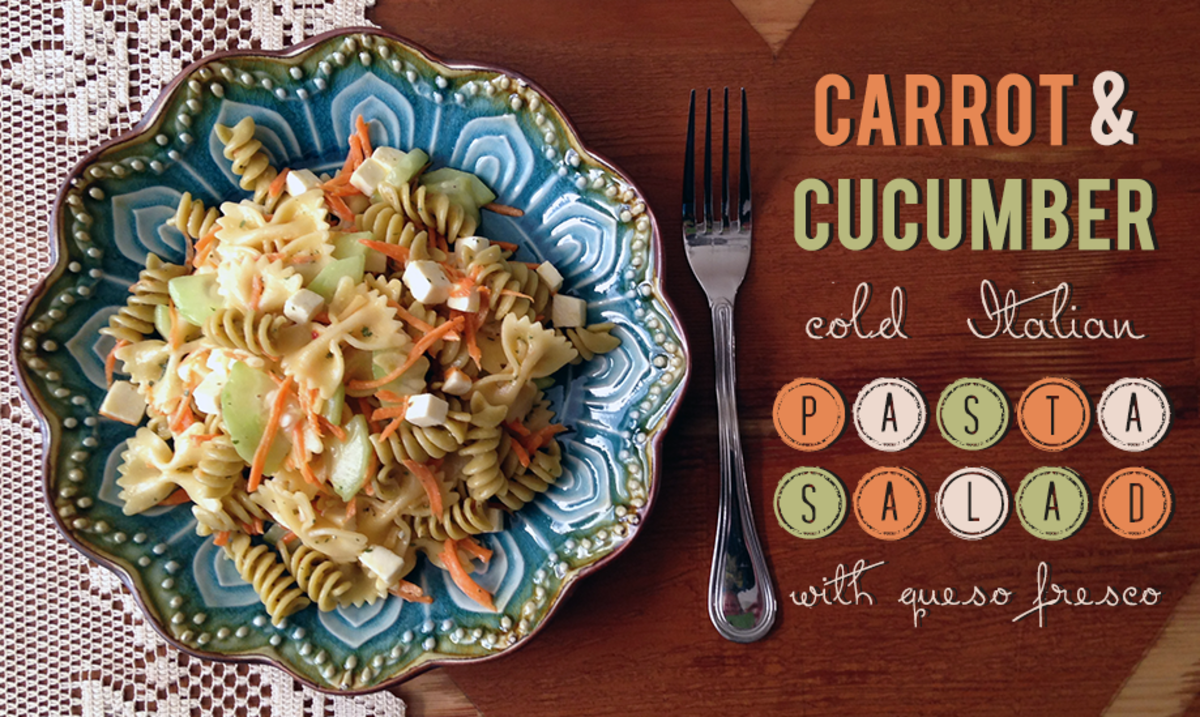 Recipe for Carrot and Cucumber Cold Pasta Salad