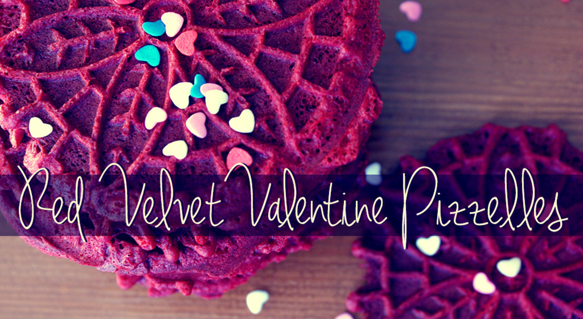 Learn how to make cake batter cookies with this recipe for red velvet valentine pizzelles.