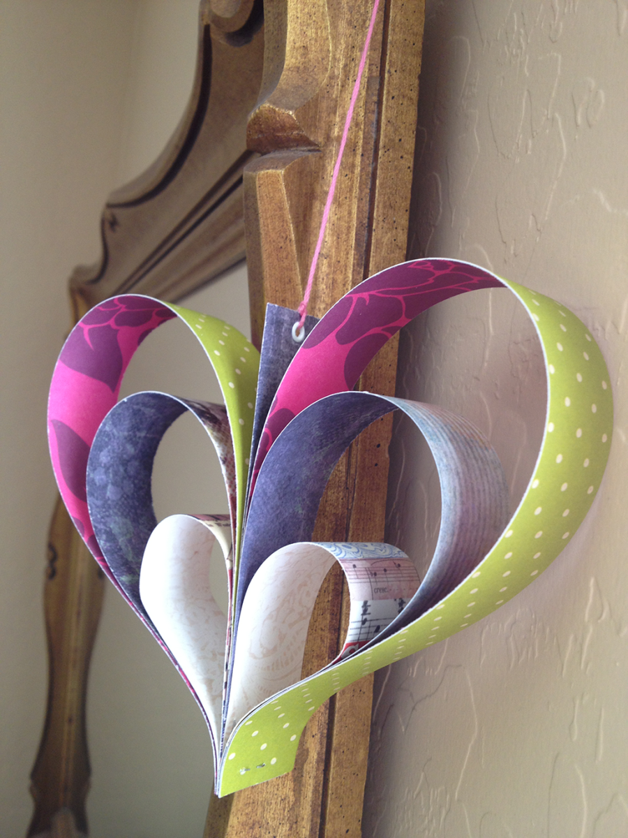Learn how to make a paper 3D heart craft.