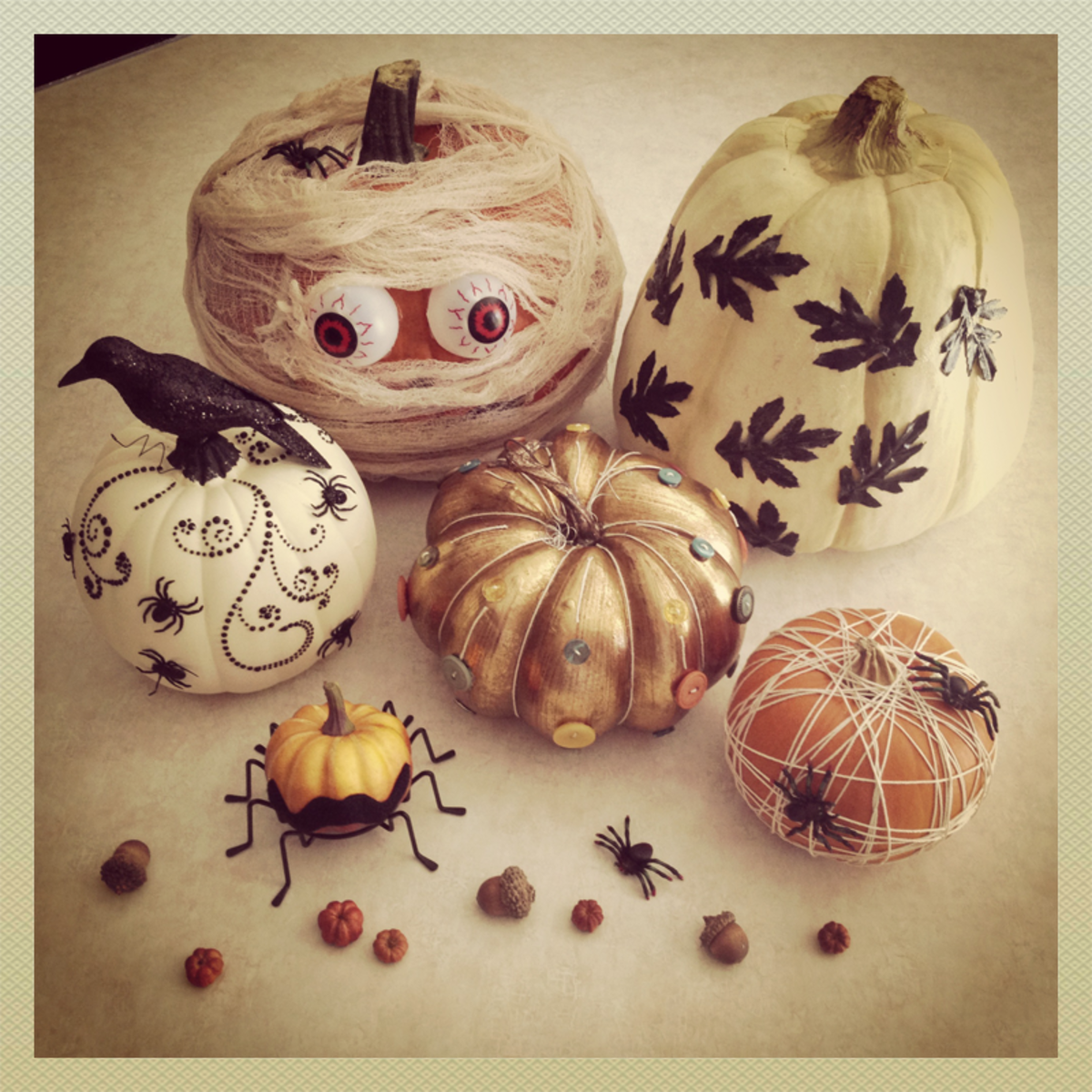 No Carve Halloween Pumpkins - Ideas for Decorating Pumpkins Quickly without Carving