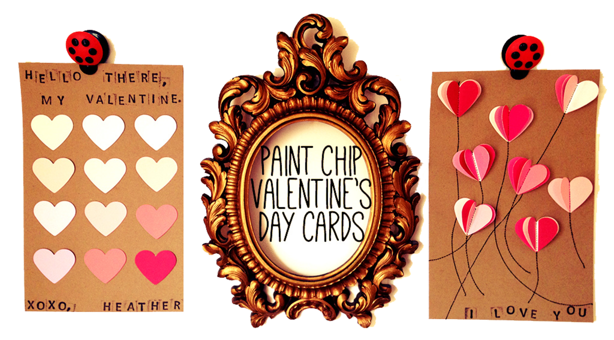 DIY Paint Chip Valentines Day Cards  FeltMagnet