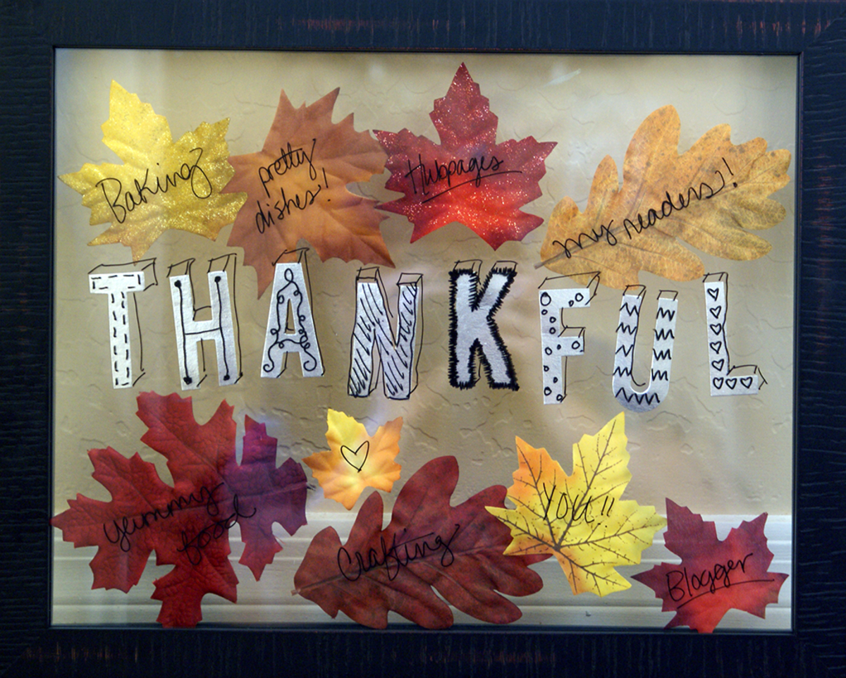 DIY Thanksgiving Dry Erase Thankful Board With Fake Leaves