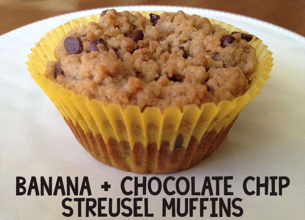 Banana Chocolate Chip Streusel Muffins