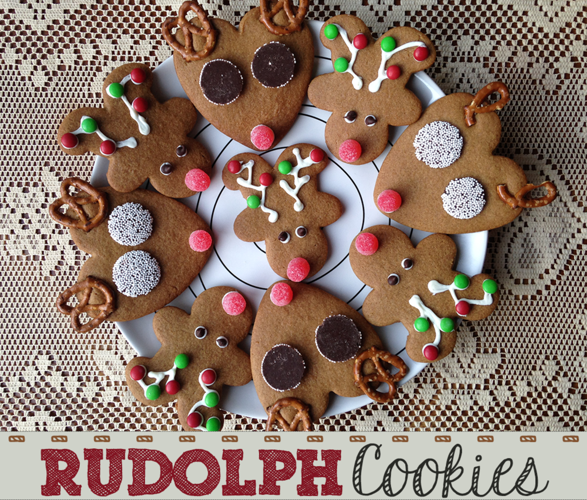 How to Make Rudolph the Red Nosed Reindeer Christmas Cookies