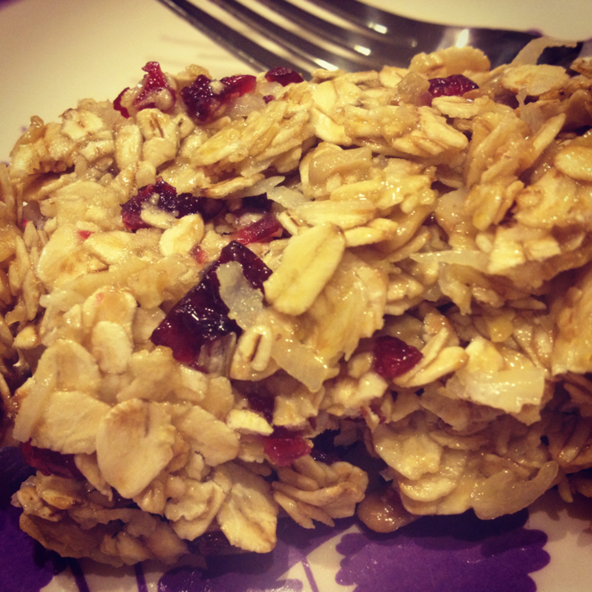 The results of this easy oatmeal bar recipe.