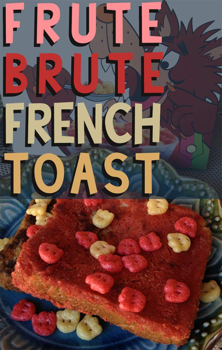 Use cherry-flavored Frute Brute cereal to create a delicious French toast for Halloween!