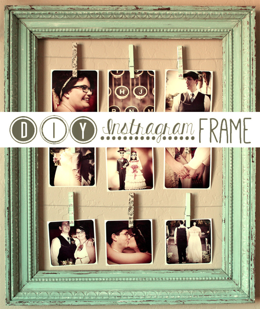 Learn how to create an awesome, attractive, and inexpensive DIY collage using Instagram photos! Great for weddings, anniversaries, and many other occasions!