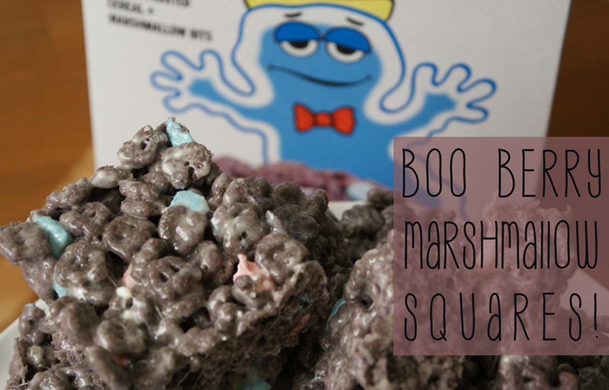 Boo Berry Cereal Marshmallow Treats for Halloween