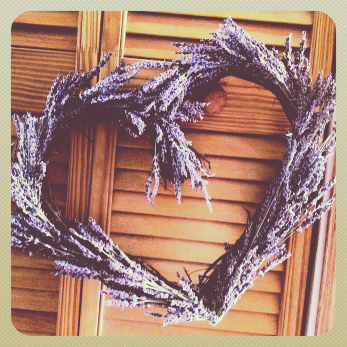 How to Make a Lavender Heart Wreath