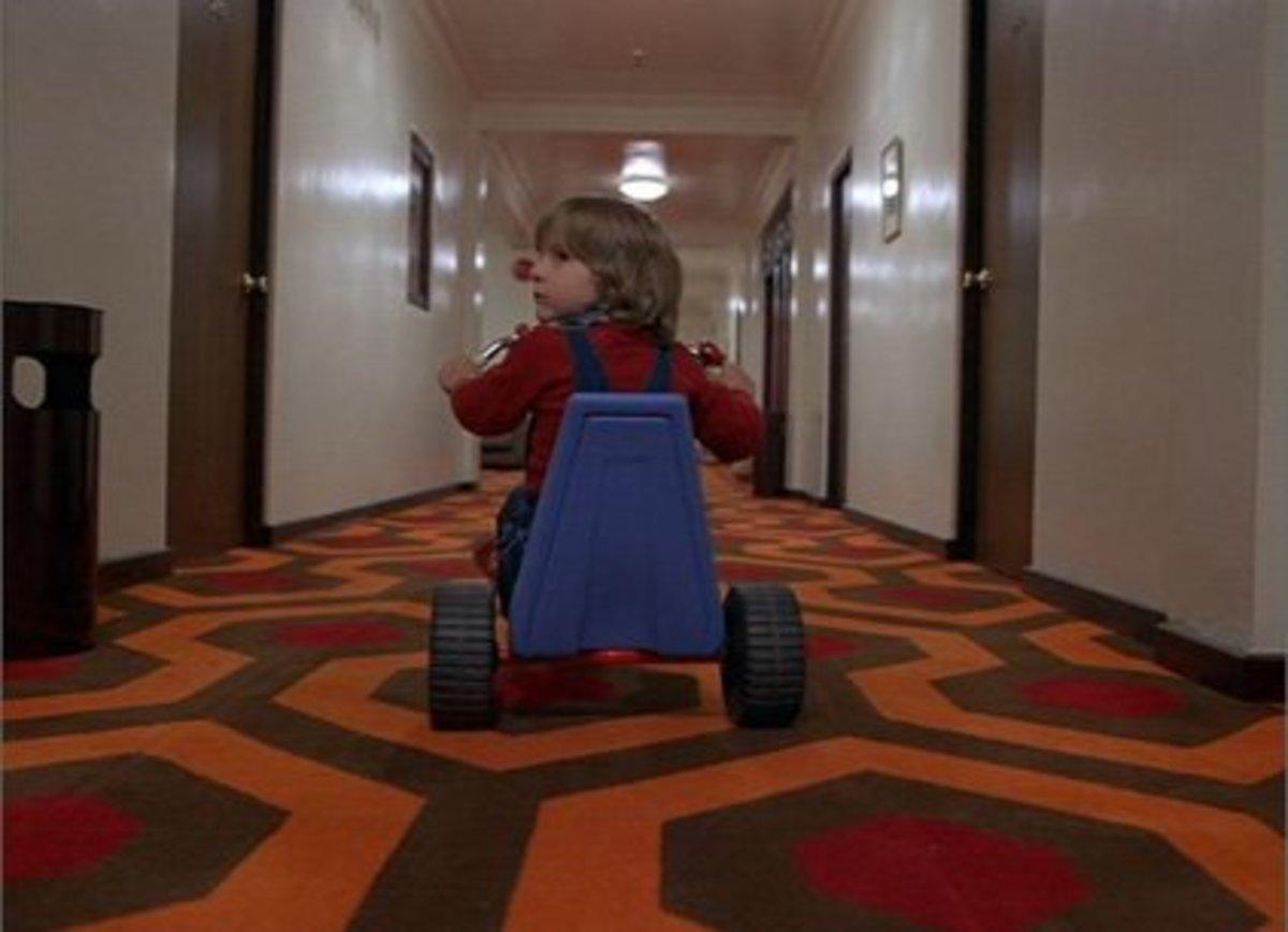 Danny Torrance inside the Overlook Hotel