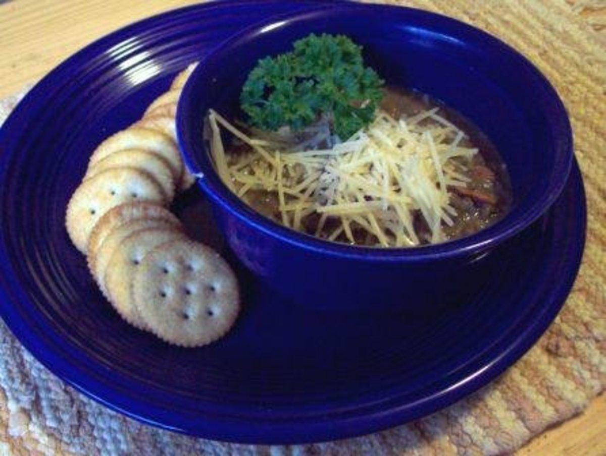 Slow-cooked lentil soup.  Mmmm.