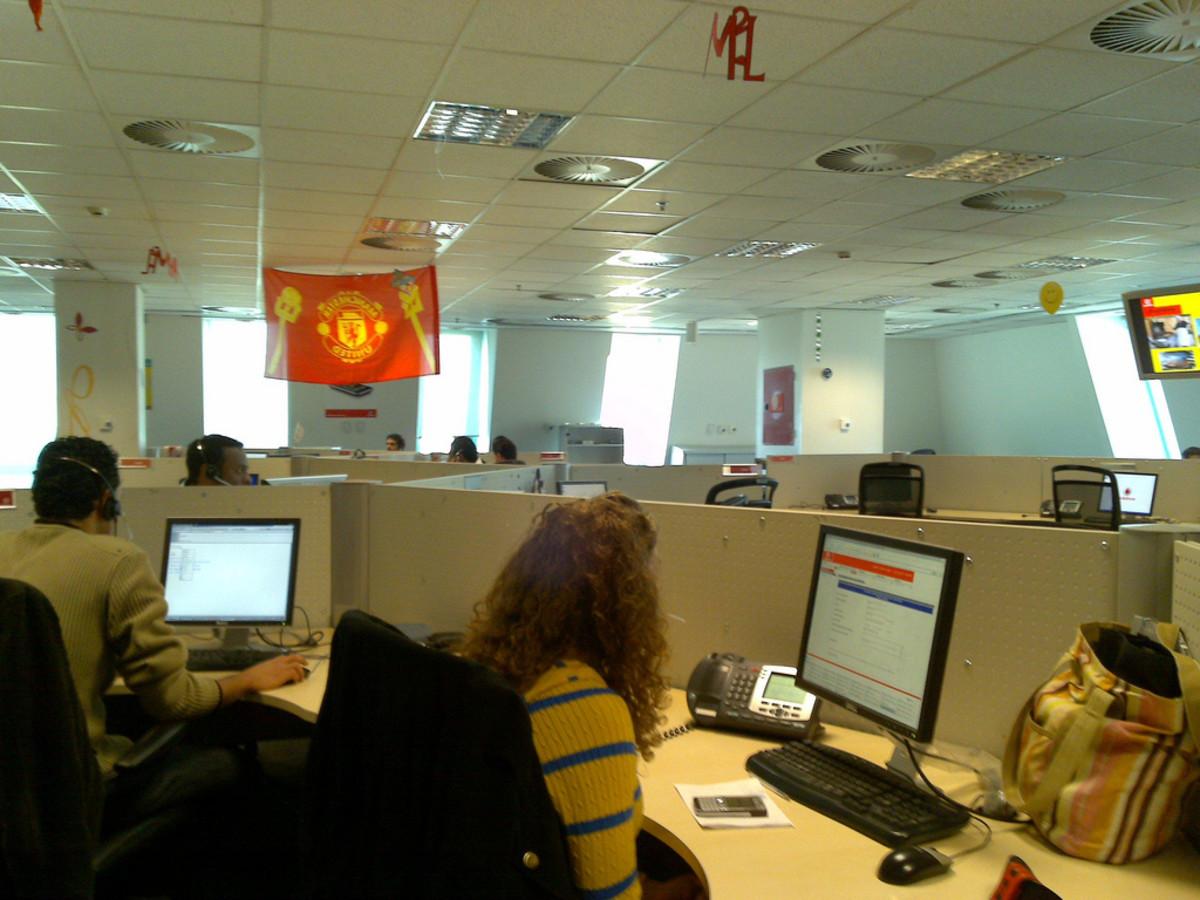 A BPO office.